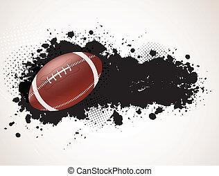Grunge Hintergrund mit Ball