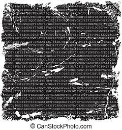 Grunge Hintergrund mit Zahlen und Buchstaben.
