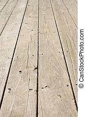 Grunge Holzboden mit alten Nägeln