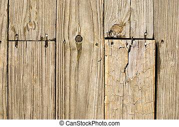 Grunge Holzfußboden mit alten Nägeln.