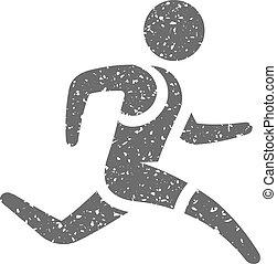 Grunge Ikone - laufender Athlet