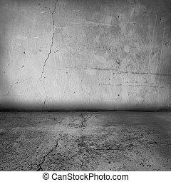 Grunge Innenmauer und Boden