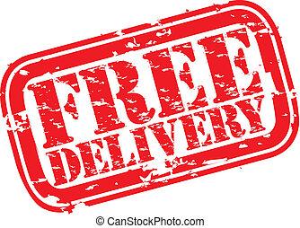 Grunge kostenlose Lieferungsstempel,