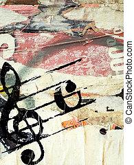 Grunge Melodie Texturen.