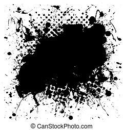 Grunge mottled Tinte splat.
