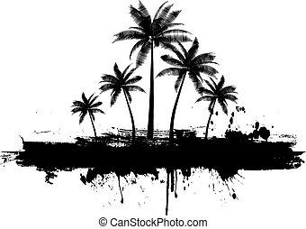 Grunge Palmen