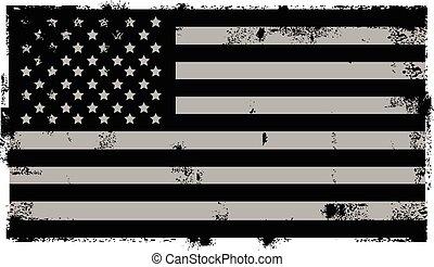 Grunge schwarzer amerikanischer Hintergrund.
