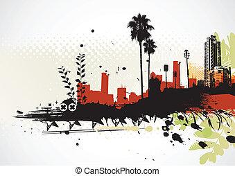 Grunge städtischen Hintergrund