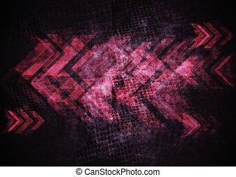 Grunge Tech Hintergrund mit Pfeilen