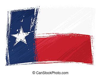 Grunge texas Flagge