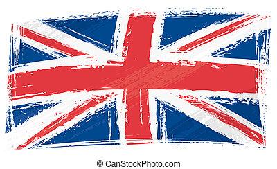 Grunge United Kingdom Flagge