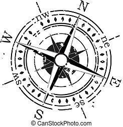 Grunge Vektorkompass