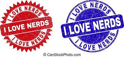 grunged, beschaffenheit, dichtungen, gerundet, rosette, streber, liebe