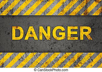 Grungemuster mit Gefahrentext