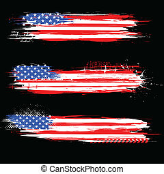 Grungy American Flaggenbanner