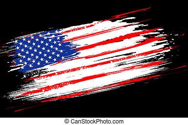 Grungy amerikanische Flagge