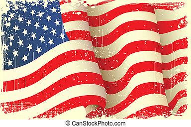Grungy amerikanische Flagge winkt