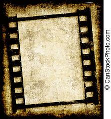 Grungy Filmstreifen oder Foto negativ