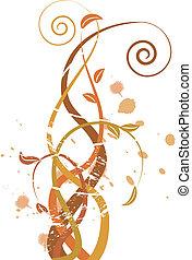 Grungy Herbst illustriert