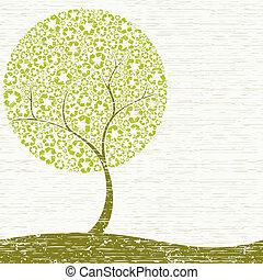 Grungy Recycling Baum Konzept