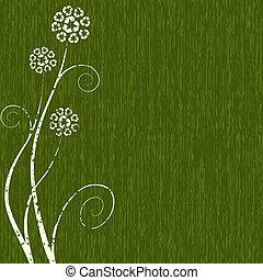 Grungy Recycling Blumenkonzept