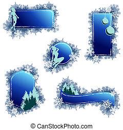 Grungy Weihnachtselemente