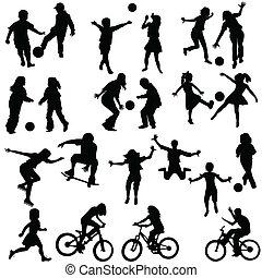 Gruppe aktiver Kinder