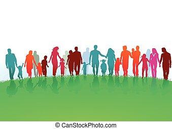 Gruppen und Familien.