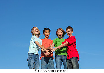 Gruppen von verschiedenen Kindern oder Jugendlichen.