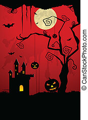Gruselige Halloween-Nacht