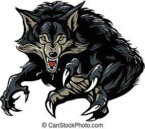Gruseliger Werwolf.