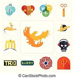 gryphon, satz, banque, totenschädel, phoenix, psi, heiligenbilder, bauunternehmer, mannschaft, kopfhörer, traurig, elektrisch, traum, taksi