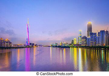 Guangzhou, China City Skyline.