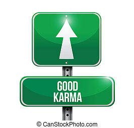 Gute Karma-Zeichen-Präsentation.