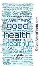 Gutes Gesundheitswort oder Tageswolke