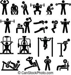 Gym-Gymnasium-Körpergebäude