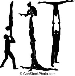 Gymnast-Akrobaten.