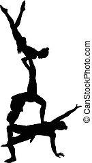 Gymnast Akrobaten Vektor.