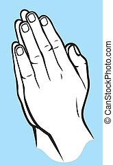 Händchen beten.