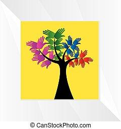 Hände-Baum-Konzept.