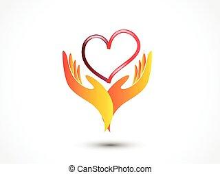 hände, besitz, herz, ikone, liebe, logo