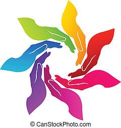 Hände freiwilliges Logo
