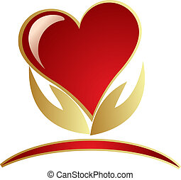 Hände halten Herz-Logo