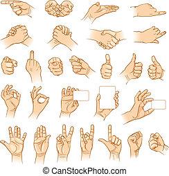 Hände in verschiedene Interpretationen