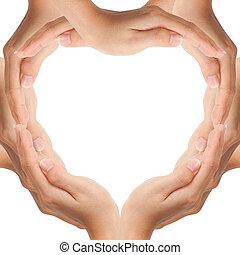 Hände machen Herzform