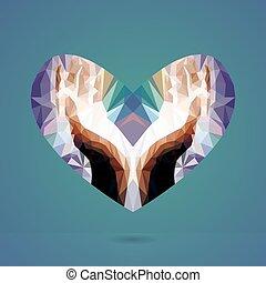 Hände mit Herz. Vector