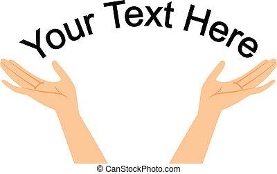 Hände mit Platz für deine SMS