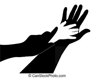 Hände Silhouette.