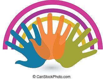 Hände und Anschlüsse Logo.