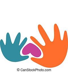 Hände und ein Herz